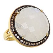 Image of  Kara Ackerman <i> Alice Rose <i/> Cocktail Ring in Moonstone