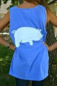 Image of Comfort Colors Blue Big Pig Tank