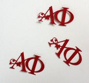 Image of Alpha Phi Logo Shaped Confetti, pack of 50 pieces