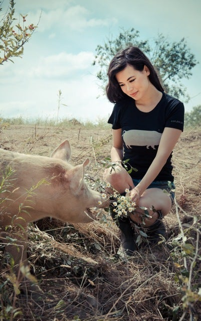 Image of *LIMITED EDITION* GIRLS JOHN BARTLETT + FARM SANCTUARY &quot;AMBASSADOR COLLECTION&quot; PIG TEE