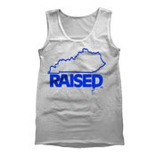 "Image of KY Raised ""Limited Edition"" Men's Tank in White and KY Blue"