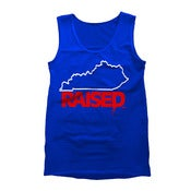"Image of KY Raised ""Limited Edition"" Men's Tank in KY Blue, White & Red"