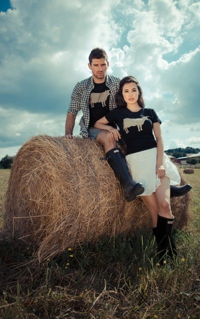"Image of *LIMITED EDITION* GIRLS JOHN BARTLETT + FARM SANCTUARY ""AMBASSADOR COLLECTION"" COW TEE"