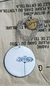 Image of Elderflower drawing necklace
