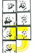 Image of Marilyn 5 XL yellow 100 x 70 cm Pop Surrealism Lowbrow Pop Art Icon Celebrity