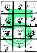Image of Marilyn 5 green 50 x 70 cm Pop Surrealism Lowbrow Pop Art Icon Celebrity