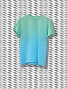 Image of Green & Blue Gradient T Shirt