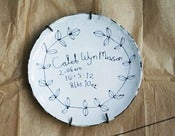 Image of Customised Birth Plate