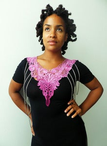 Image of Magenta Ombre Venice Body Chain