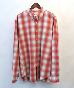 Image of J.Crew red/white plaid shirt (L)