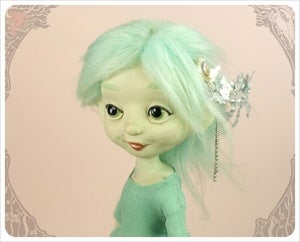 Image of SOLD! - Sea Foam &amp; Silver Mermaid by the Filigree