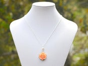 Image of Simple Peach Rose and White Swarovski Pearl Bridesmaids Necklace - NC002