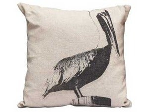 Image of Canvas Pelican Pillow