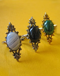 Image of Olivia Ring in Carnelian, Malachite, Onyx or Agate