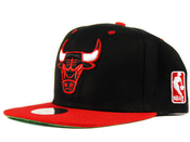 Image of Chicago Bulls Mitchell&amp;Ness Snapback in Black