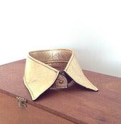 Image of Gold Metallic Leather Collar
