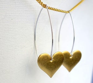 Image of Single Heart Dangles