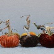 Image of Velvet Plush Pumpkin Hostess Set