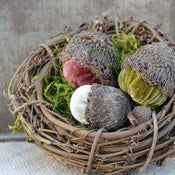 Image of Velvet Plush Acorn Nest Large 