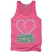 Image of 8 Bit Apparel Game Over Tank in Neon Pink