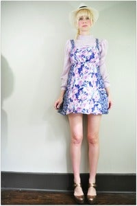 Image of Blue Floral Dress