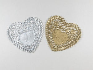 Image of Mini Metallic Heart Doilies