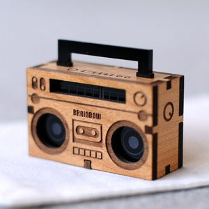 Image of Wooden Boom Box Necklace