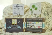 Image of 2013 Letterpress Coaster Calendar
