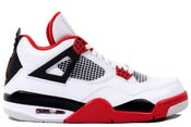 Image of Air Jordan 4 Retro White/Red/Black