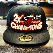 Image of New Era Miami Heat 2X Finals Champs Fitted