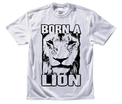 Image of &quot;Born A Lion&quot; Men's T-Shirt - White