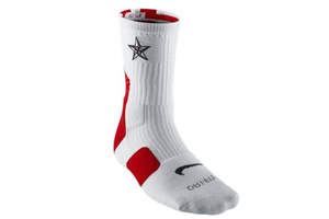 "Image of Nike Elite 2.0 (USA) ""OLYMPIC"" Crew Basketball Socks - Red"