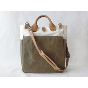 Image of Garrison Bag (Natural/Sage)