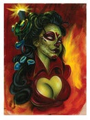 "Image of ""Electric Day of the Dead"" Poster by Joe Capobianco"