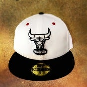 Image of New Era Chicago Bulls Custom Olympic Fitted Cap