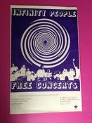 Image of INFINITY PEOPLE - FREE CONCERTS - HAND SCREENED POSTER