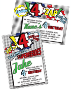 Image of Vintage Superhero printable invite- 2 options