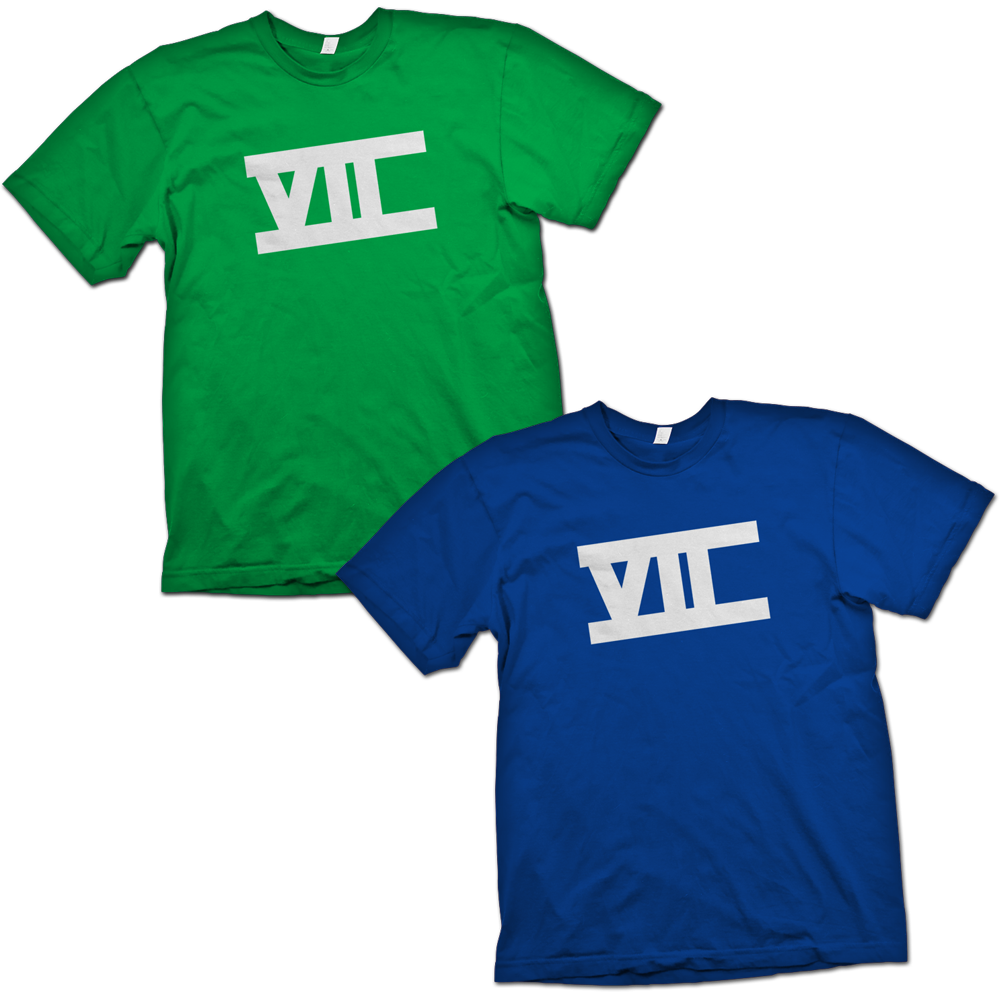 Image of Logo Tee (Green or Blue)
