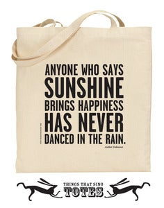 Image of Dance in the Rain TOTE BAG - 2 for 1