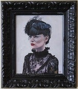 Image of Black Veil Framed Original Painting 8x10