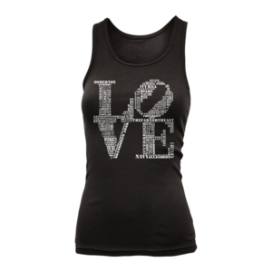 Image of Women's Aphillyated® LOVE Tank (Black)