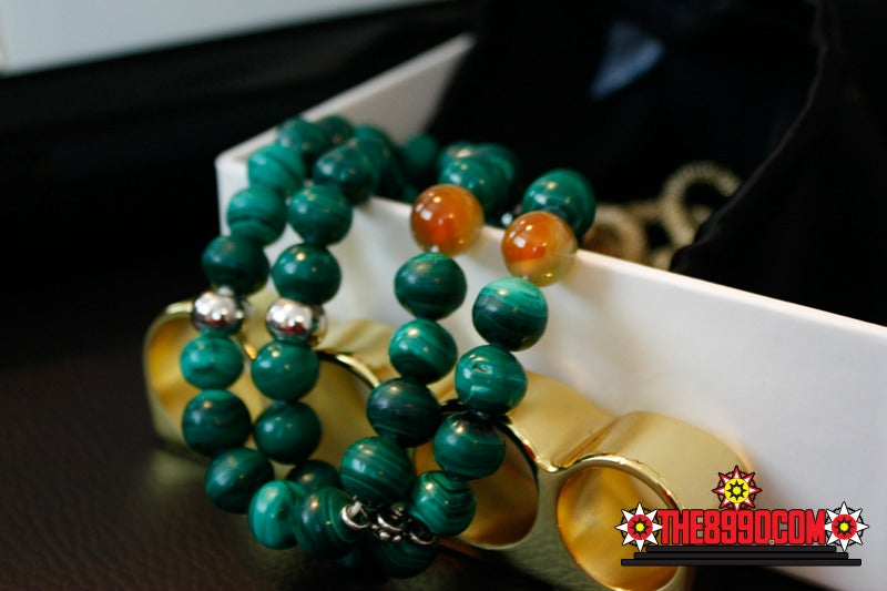 Image of MALACHITE Double Bracelet x Glenda Collings
