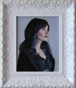 Image of The Waiting Framed Original Painting 8x10