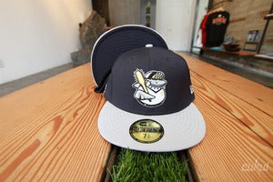 Image of Sharky Fitted Hat - Navy/Gray