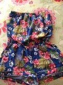 Image of Forever 21 Flower Print Medium Strapless Romper