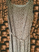 Image of Long Leopard Print Tank Top Dress
