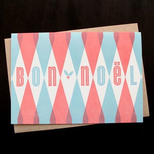 Image of 1505B - bon noël letterpress holiday card - set of 6