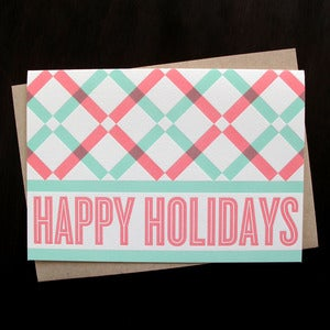 Image of 1531B - holiday lattice letterpress card - set of 6