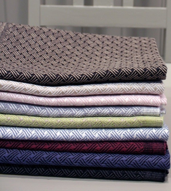 Image of Woven, Linen Kitchen Towels &quot;Sali&quot;