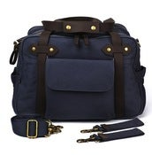 Image of So Young Mother Charlie Unisex Nappy Bag - Slate (Blue/Grey)